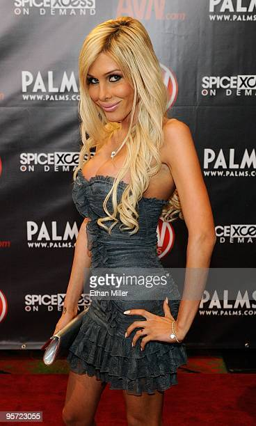 Adult transsexual film actress Kimber James arrives at the 27th annual Adult Video News Awards Show at the Palms Casino Resort January 9 2010 in Las...