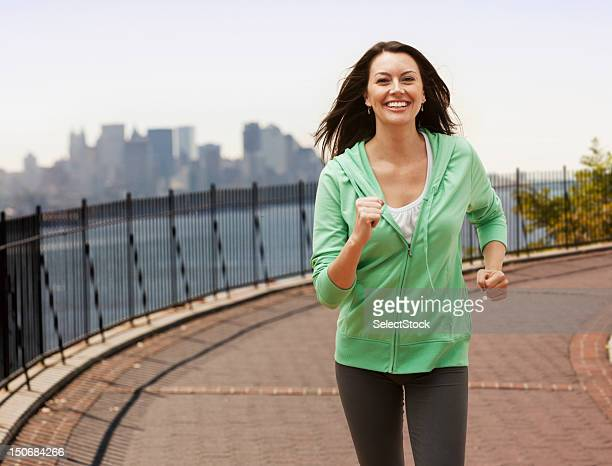 Adult woman jogging