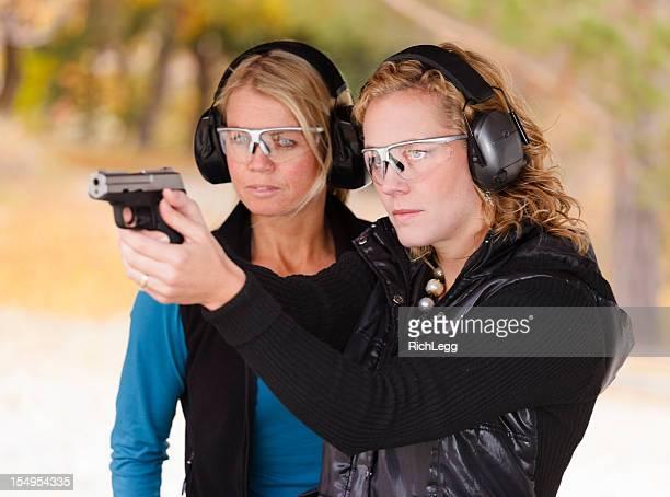 Adult Women at the Shooting Range