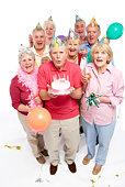 Adults celebrating birthday