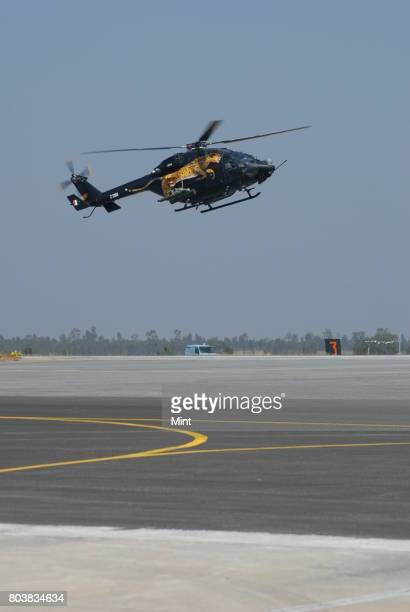 Advanced Light Helicopter at Aero India 2009 Asias premier air show at Air Force station Yelahanka in Bangalore Demand for Indian aerospace products...