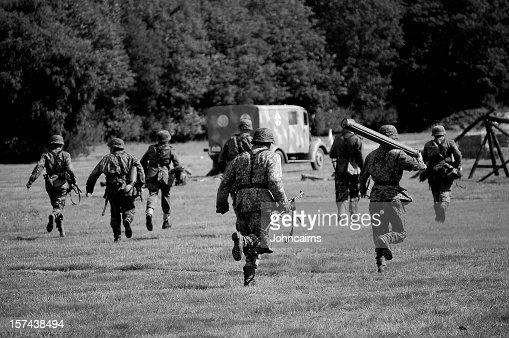 WW2 Advancing Army.