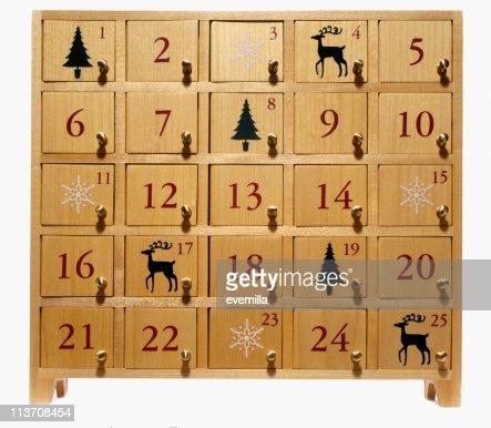 advent calendar on white