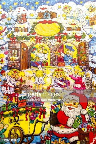 Advent calendar, full frame