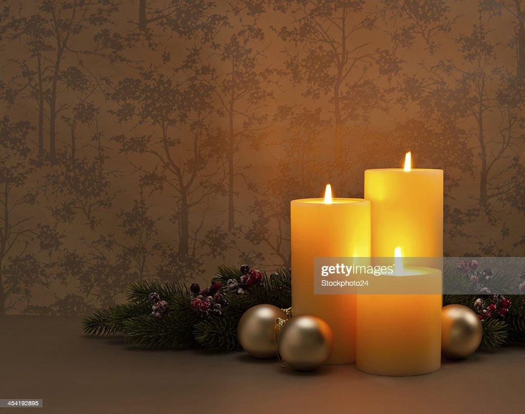 Advent corona de Navidad : Foto de stock