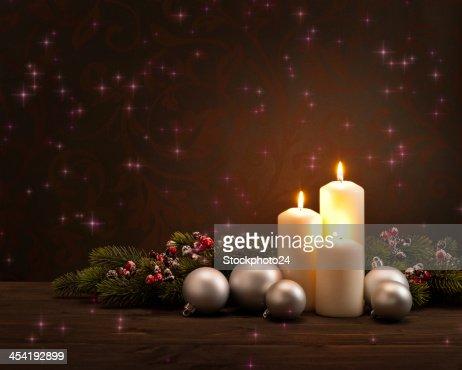 Advento Natal Coroa de flores : Foto de stock