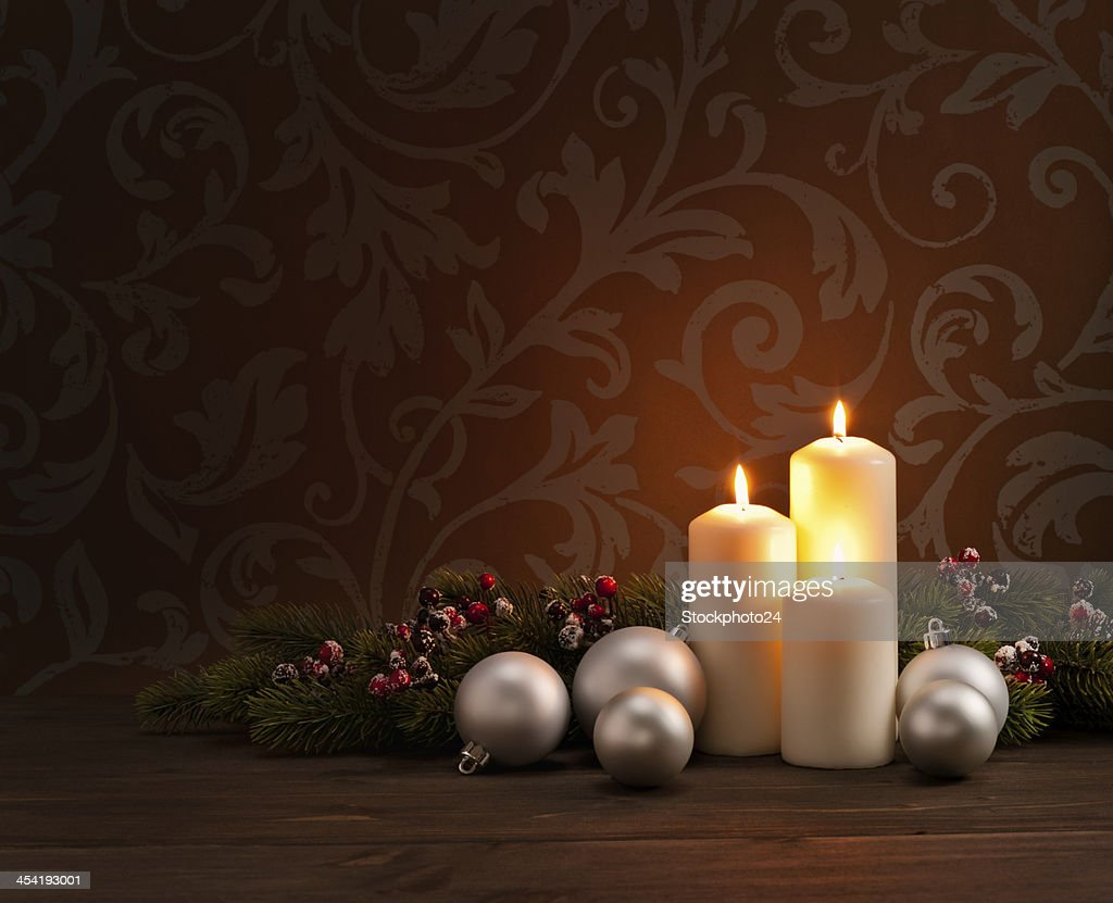 Advent Weihnachtskranz : Stock-Foto
