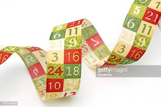 Advent Band mit Zahlen