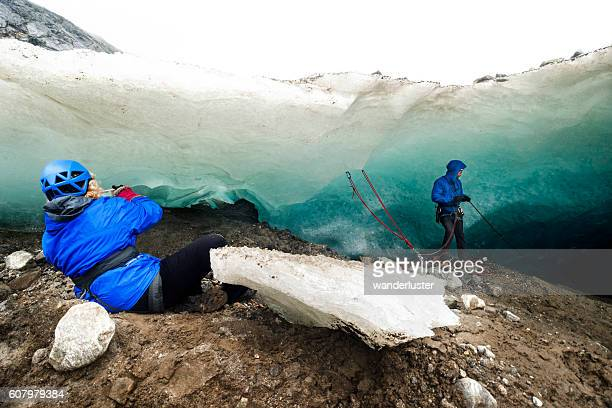 Adventure in Alaskan ice cave