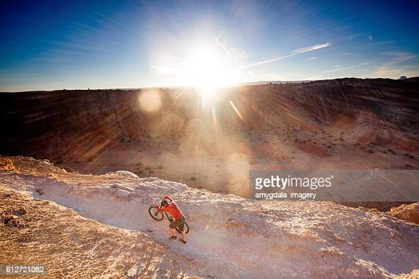 adventure inspiration man desert landscape