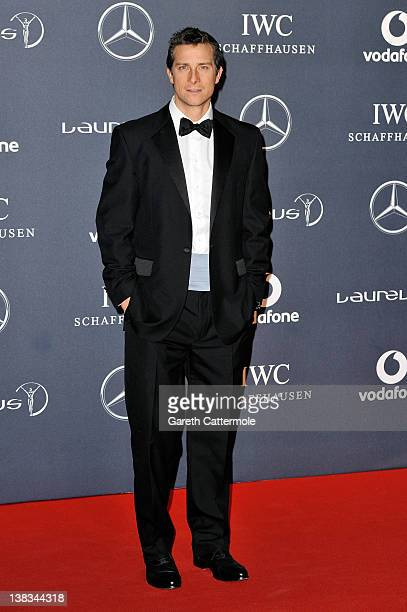 Adventurer Bear Grylls attends the 2012 Laureus World Sports Awards at Central Hall Westminster on February 6 2012 in London England