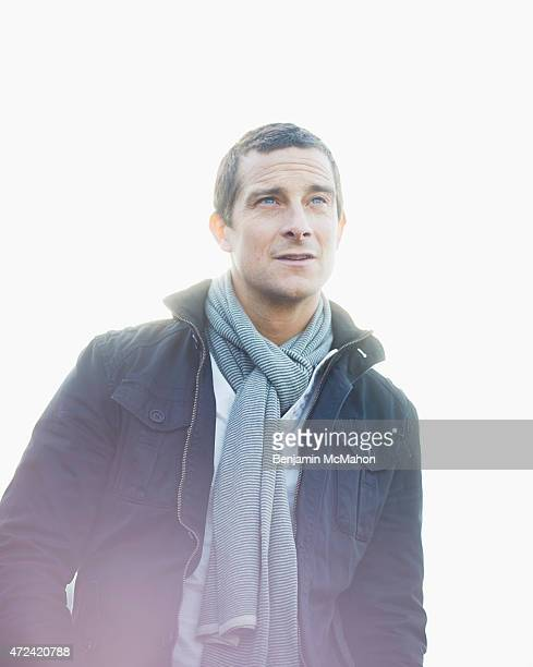 Adventurer writer and television presenter Bear Grylls is photographed for the Telegraph on January 14 2014 in London England
