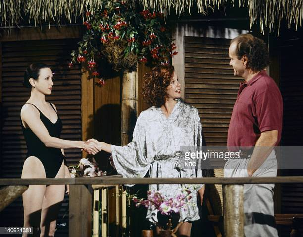FRASIER 'Adventures in Paradise Part 2' Episode 9 Pictured Bebe Neuwirth as Doctor Lilith Sternin JoBeth Williams as Madeline Marshall Kelsey Grammer...