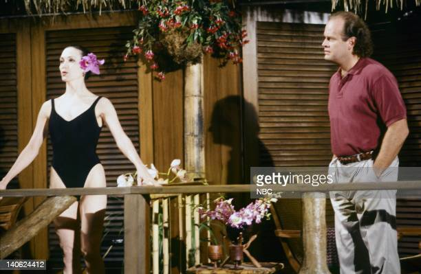 FRASIER 'Adventures in Paradise Part 2' Episode 9 Pictured Bebe Neuwirth as Doctor Lilith Sternin Kelsey Grammer as Doctor Frasier Crane Photo by...