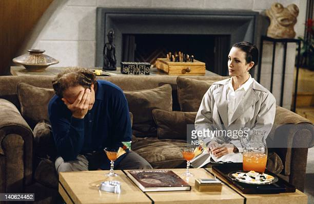 FRASIER 'Adventures in Paradise Part 2' Episode 9 Pictured Kelsey Grammer as Doctor Frasier Crane Bebe Neuwirth as Doctor Lilith Sternin Photo by...