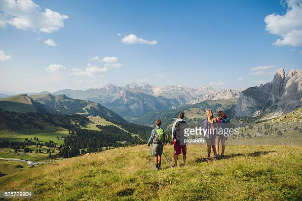 Adventures on the Dolomites at summer