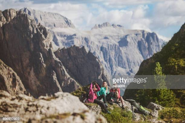 Adventures on the mountain: group of women together