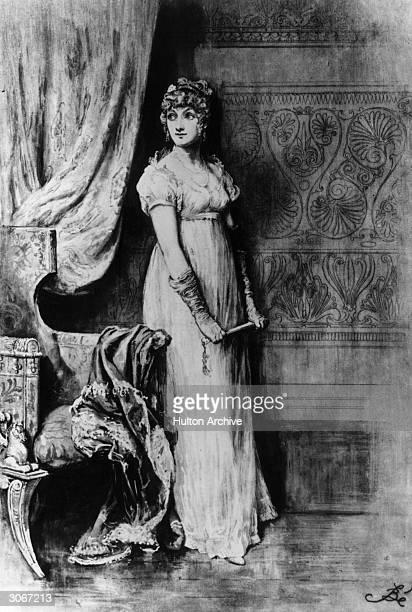 Adventuress Becky Sharp from 'Vanity Fair' by William Thackeray Original Artist Frederick Barnard