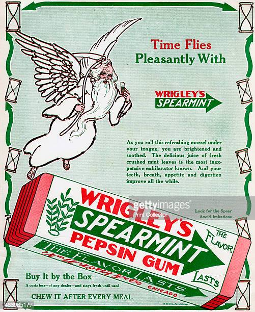 Advert for Wrigley's Spearmint Pepsin Gum 1913 A print from Life 17th April 1913