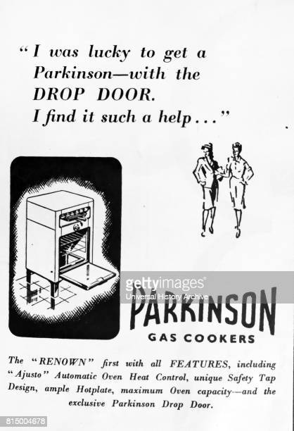 1947 advertisement for a Parkinson Gas Cooker As the austerity of World war Two gave way to a slow economic recovery British consumers purchased what...