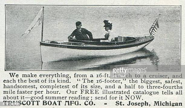 Advertisement for boats and motors by the Truscott Boat Manufacturing Company St Joseph Michigan 1902