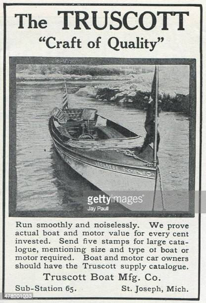 Advertisement for boats and motors by the Truscott Boat Manufacturing Company St Joseph Michigan 1907