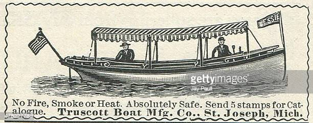 Advertisement for boats and motors by the Truscott Boat Manufacturing Company St Joseph Michigan 1899
