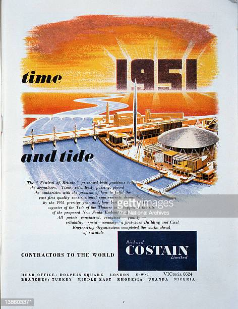 Advertisement for Costain civil engineers in association with the Festival of Britain 1951