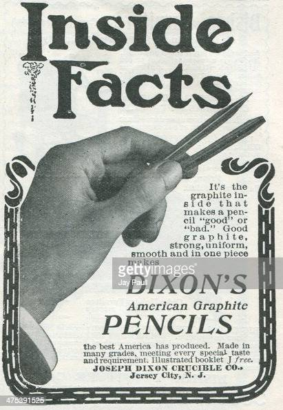 Advertisement for Dixon's American graphite pencils by the Joseph Dixon Crucible Company in Jersey City New Jersey 1902