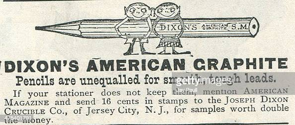 Advertisement for Dixon's American graphite pencils by the Joseph Dixon Crucible Company in Jersey City New Jersey 1888