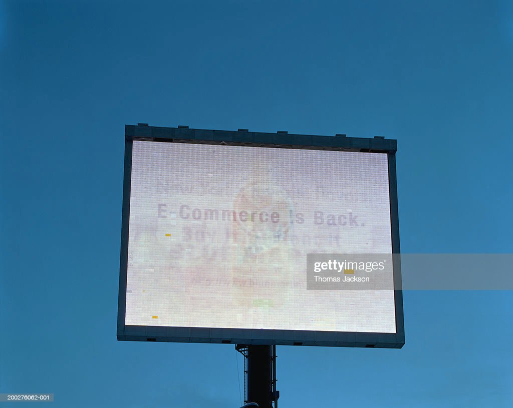 Advertisement for E-Commerce : Stock Photo