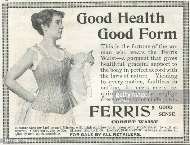 Advertisement for Ferris good sense corset waists by Ferris Brothers in New York 1897