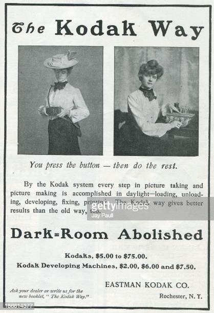 Advertisement for Kodak by the Eastman Kodak Company in Rochester New York 1902 The 'Kodak Girls' are pictured
