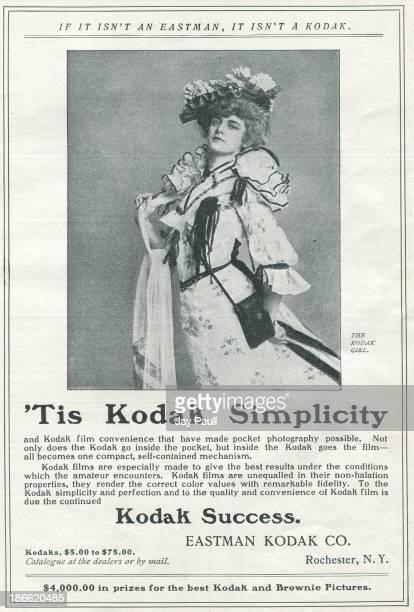 Advertisement for Kodak by the Eastman Kodak Company in Rochester New York 1902 A 'Kodak Girl' is pictured
