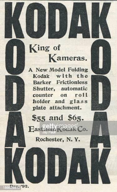 Advertisement for Kodak by the Eastman Kodak Company in Rochester New York 1892