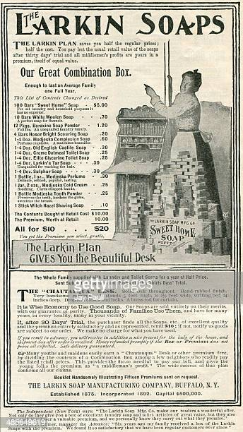 Advertisement for Larkin soaps by The Larkin Soap Manufacturing Company Buffalo New York 1897