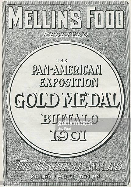Advertisement for Mellin's Food featuring the PanAmerican Exposition in Buffalo New York by the Mellin's Food Company in Boston Massachusetts 1901