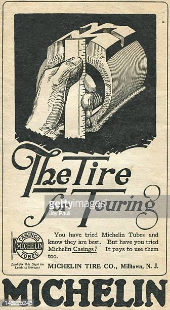 Advertisement for Michelin Tires by the Michelin Tire Company of Milltown New Jersey 1919