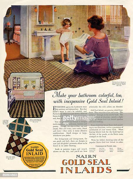 Advertisement for Nairn gold seal inlaids linoleum 1925