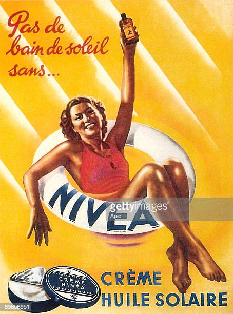 Advertisement for Nivea sun oil and cream 1938
