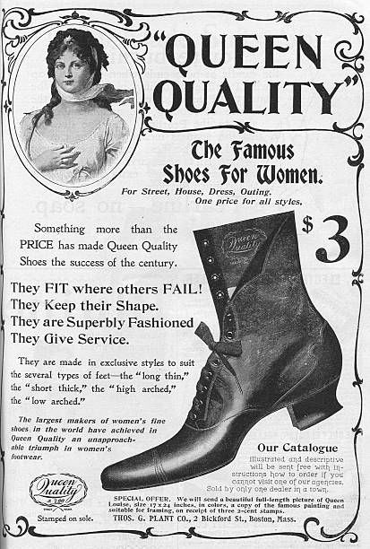 house painting advertisement ad for queen quality shoes pictures getty images