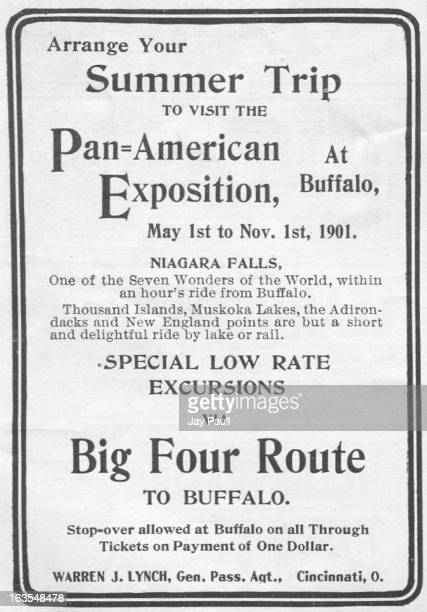 Advertisement for the Big Four Railway describing the Pan American Exposition in Buffalo New York 1901