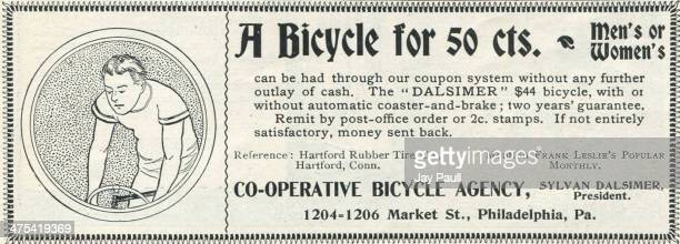 Advertisement for the Dalsimer bicycle by the CoOperative Bicycle Agency in Philadelphia Pennsylvania 1899