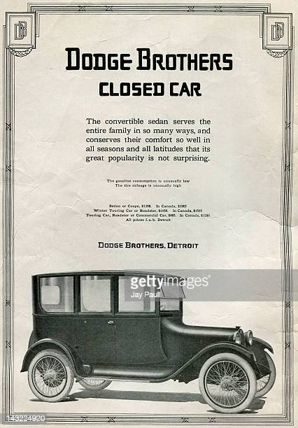 Advertisement for the Dodge Brothers Closed Car made by Dodge Brothers in Detroit Michigan 1918