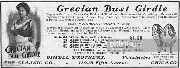 Advertisement for the Grecian Bust Girdle by The Classic Company in Chicago Illinois 1902