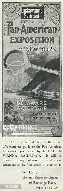 Advertisement for the Lackawanna Railroad describing the Pan American Exposition in Buffalo New York 1901