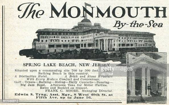 Advertisement for the Monmouth bythesea hotel Spring Lake Beach New Jersey 1919