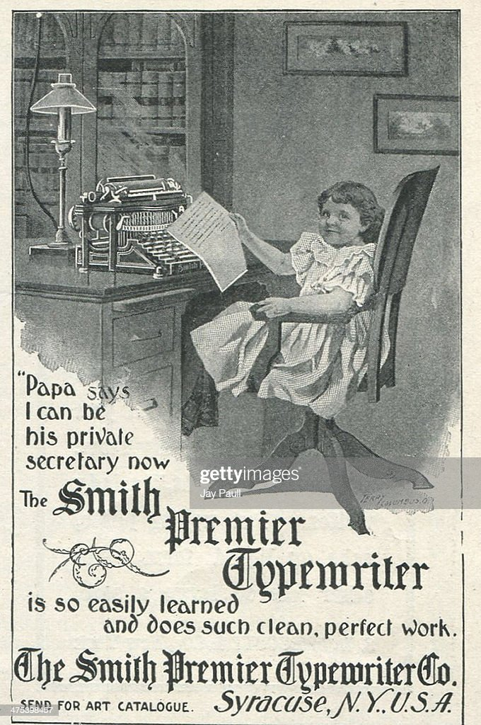 Advertisement for the Smith premier typewriter by the Smith Premier Typewriter Company in Syracuse New York 1899