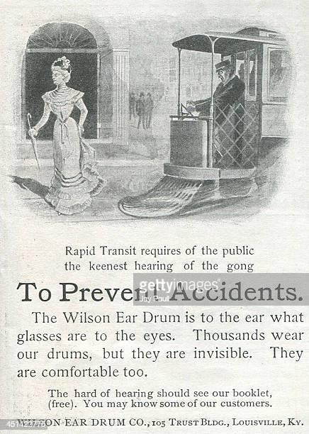 Advertisement for the Wilson ear drum by the Wilson Ear Drum Company 1900