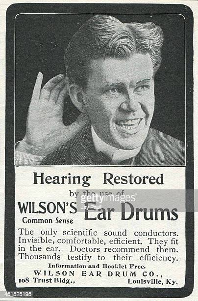 Advertisement for the Wilson ear drum by the Wilson Ear Drum Company 1901